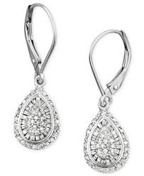 teardrop diamond earrings wrapped in diamond teardrop earrings in 14k white gold 1 2
