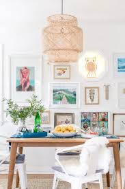 Aqua Dining Room by Boho Beach Bungalow Boho Beach Bungalow Dining Room Reveal