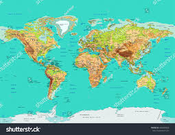 Maps Of The World by Map World Vector Illustration Names Countries Stock Vector