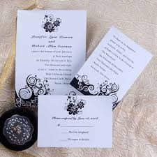 Cheap Wedding Invitations Black And White Cheap Wedding Invitations