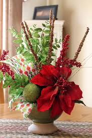 Ideas For Christmas Centerpieces - apartments beautiful christmas flower vase arrangements ideas on