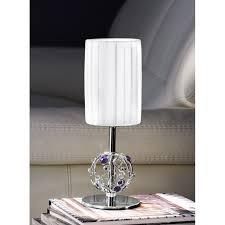 Crystal Desk Lamp by Lara Crystal Table Lamp Chrome Kolarz Lighting Lighting Deluxe
