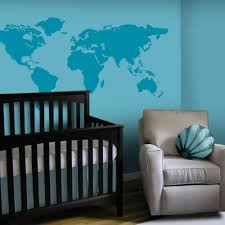 World Map Wall Sticker by Baby Nursery Wall Decal Large World Map Nursery Wall Decal