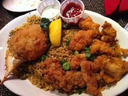 alligator cuisine fried alligator and stuffed crab with rice picture of