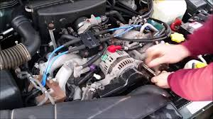 1992 subaru loyale engine how to replace an alternator on a subaru youtube