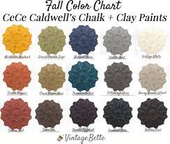 cece caldwell u0027s chalk clay paints color chart by vintage bette