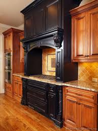 Black And Brown Kitchen Cabinets Pictures Of Kitchens Traditional Medium Wood Cabinets Golden