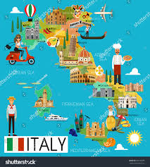 Map Of Genoa Italy by Map Italy Travel Iconsitaly Travel Map Stock Vector 669109288