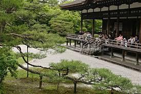 the zen rock garden at ninna ji temple kyoto kansai region