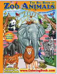 zoo animals giant super jumbo coloring book coloringbook com