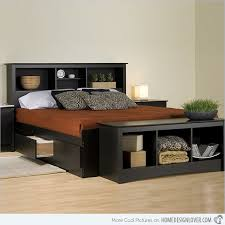 Bed Platform With Storage Beautiful Platform Bed With Headboard And Storage Drawers 84 In