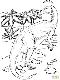 corythosaurus duck billed dinosaur coloring page free printable