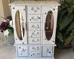 Dresser Top Jewelry Armoire Jewelry Armoire Etsy