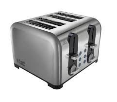 Sainsbury Toaster Russell Hobbs Wide Slot 4 Slice Toaster 22400 Stainless Steel