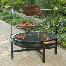 grate for outdoor fire pits round rock fire pit u0026 charcoal grill 48