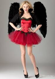 a red devil dress with black wings for women costumemodels com