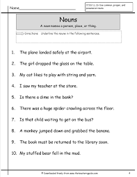 nouns worksheets from the teacher u0027s guide