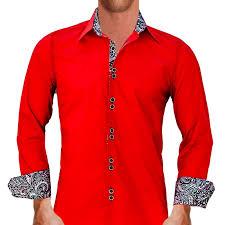 bright red dress shirts