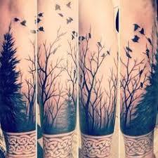 skeleton flowers the forest tree design on shoulder sketch