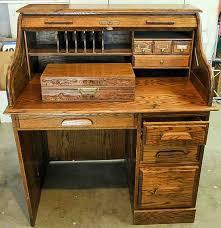 Secretary Computer Desk oak crest roll top secretary desk and chess set ebth