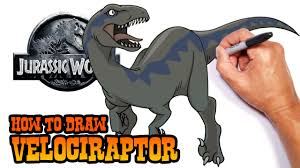 jurassic world jeep blue how to draw velociraptor jurassic world easy art lesson