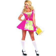 Sized Halloween Costume Beer Garden Gretel Swiss Dot Pink Costume