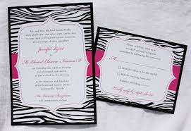 wedding invitations jacksonville fl black white zebra print wedding invitations with pink accents