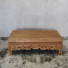Carved Coffee Table Melonwoods Indonesian Furniture Quality Wooden Furnituremahapati