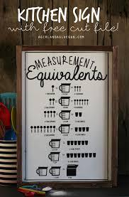 kitchen gun kitchen measurement equivalent sign with free cut file a