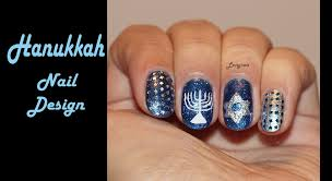 hanukkah nail design youtube