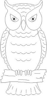 free coloring sheets animal owl kids coloring pages
