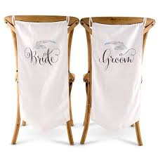 and groom chair feather whimsy and groom chair banner set the knot shop