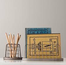 Restoration Hardware Desk Accessories Industrial Desk Accessories Pencil Cup Paper Holder Set Desk