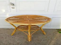 round wicker end table furniture round wicker coffee table new indoor outdoor round rattan