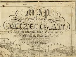 Michigan State University Map by 1857 Cartouche John Farmer Map Library Msu Libraries