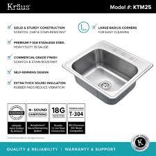 stainless steel kitchen sinks kraususa