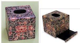 Gg Collection Utensil Holder Novica Wild Hibiscus Wood Batik Tissue Box Cover U0026 Reviews Wayfair