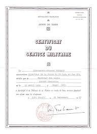 bureau central des archives militaires la poste aux armees le certificat du service militaire