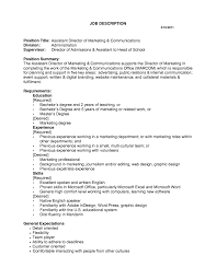 Administrative Assistant Job Description For Resume by Marketing Assistant Job Description Sample 3 Resume Objective