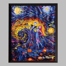 nightmare before christmas home decor original home decor room decor child bedroom cartoon canvas print