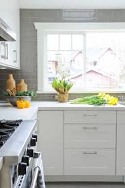 Gray Cabinets In Kitchen by Grimslov Off White I Like The Countertops Too Home Reno