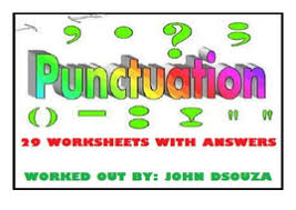 punctuation worksheets with answers by john421969 teaching