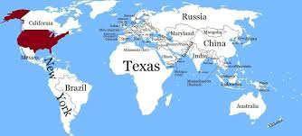 map us states world economies world countries as us states by their mapioso