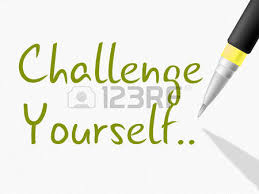 Challenge Meaning Challenge Yourself Note Meaning Be Determined Or Motivated Stock