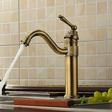 brass kitchen faucets antique inspired kitchen faucet antique brass finish