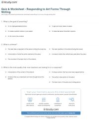 quiz u0026 worksheet responding to art forms through writing study com