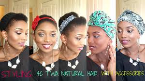 hairstyles with haedband accessories video natural hair styling 4c twa with scarf and accessories 8 styles