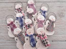 wholesale primitive salt dough snowmen set by cookiedoughcreations