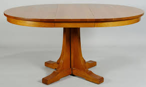 lot 433 contemporary stickley oak pedestal dining table