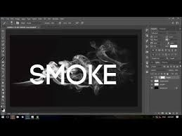 photoshop smoke text effect tutorial youtube